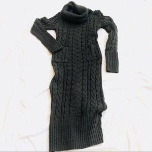 Dresses & Skirts - ♥️NWT Chunky Knit Gray Cowl Neck Maxi Dress Sz L